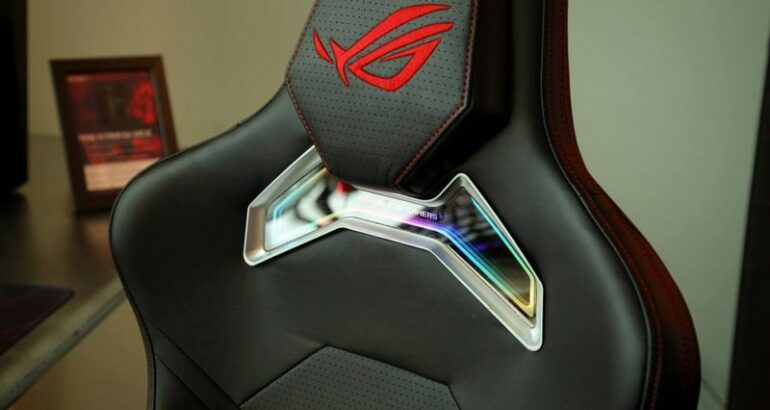 The Rog Chariot Gaming Chair Is Decked Out In Rgb Lighting